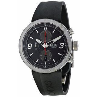 Oris Men's 67476594163RS 'TT1' Chronograph Automatic Black Rubber Watch