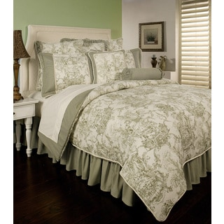 Sherry Kline Country Toile Green 6-piece Cotton Comforter Set