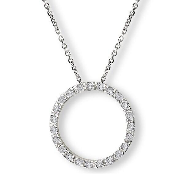 Avanti Sterling Silver Cubic Zirconia Circle Necklace