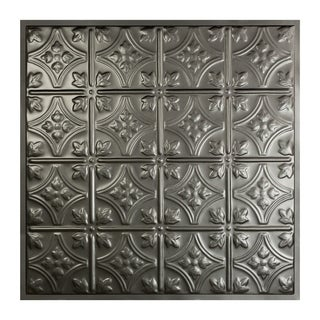 Great Lakes Tin Hamilton Argento 2-foot x 2-foot Lay-In Ceiling Tile (Carton of 5)