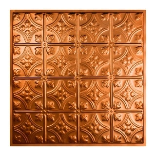 Great Lakes Tin Hamilton Copper 2-foot x 2-foot Lay-In Ceiling Tile (Carton of 5)