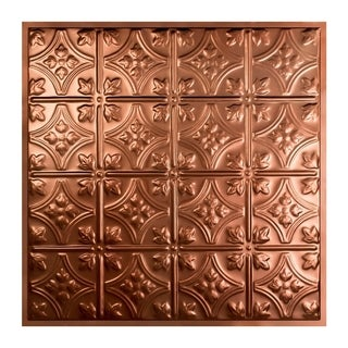 Great Lakes Tin Hamilton Vintage Bronze 2-foot x 2-foot Lay-In Ceiling Tile (Carton of 5)