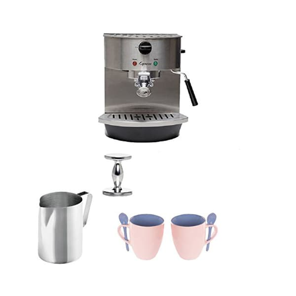 Jura-Capresso 119 Stainless Steel Pump Espresso/Cappuccino Machine + Steel 18/8 Gauge, 20-Ounce Frothing Pitcher + Accessories 16465031
