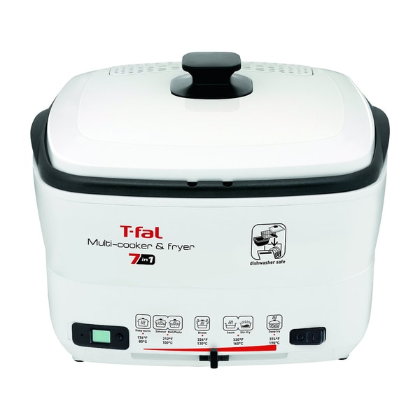 T-FAL FR490051 White 7-in-1 Multi-Cooker & Deep Fryer