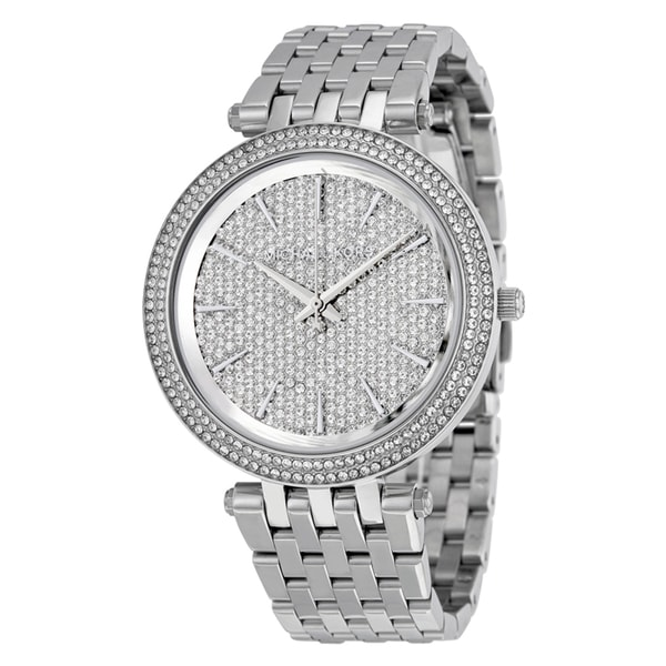 Michael Kors Women's MK3437 Darci Crystal Pave Dial Stianless Steel Bracelet Watch