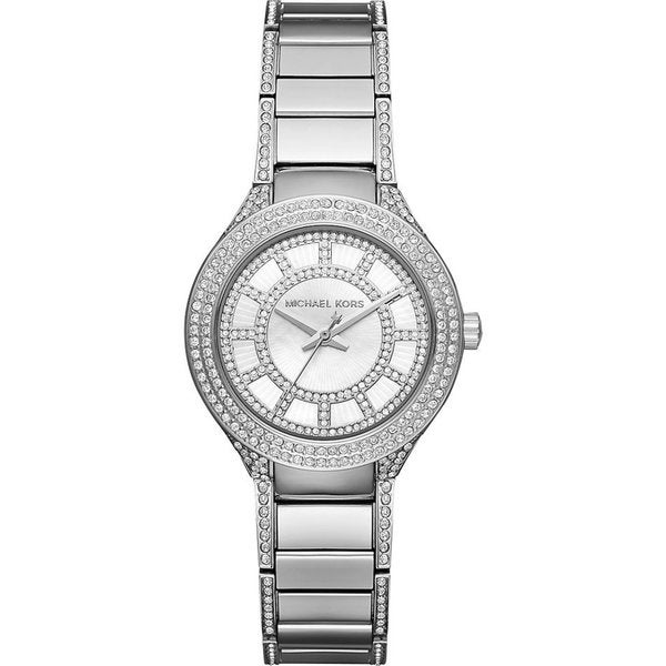 Michael Kors Women's MK3441 Mini Kerry Diamond Silver Dial Stainless Steel Bracelet Watch