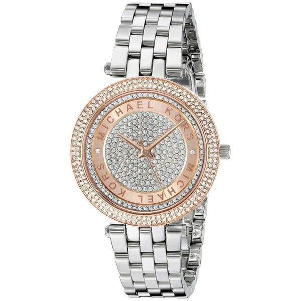 Michael Kors Women's MK3446 Mini Darci Crystal Pave Dial Stianless Steel Bracelet Watch