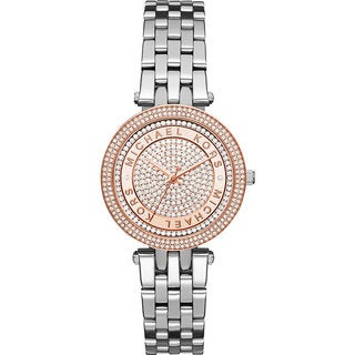 Michael Kors Women's MK3446 Mini Darci Crystal Pave Dial Stianless Steel Bracelet Watch