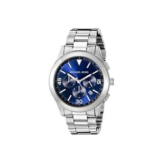 Michael Kors Men's MK8451 Gareth Chronograph Blue Dial Stainless Steel Bracelet Watch
