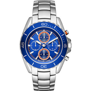 Michael Kors Men's MK8461 Jetmaster Chronograph Blue Dial Stainless Steel Bracelet Watch