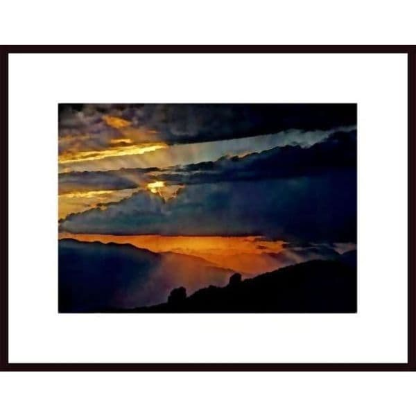 John Nakata 'High Sierra Sunset' Framed Art