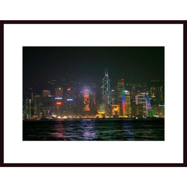 John Nakata 'Evening Skyline' Framed Art