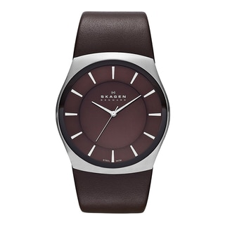 Skagen Classik Mens Brown Leather SKW6016 Watch