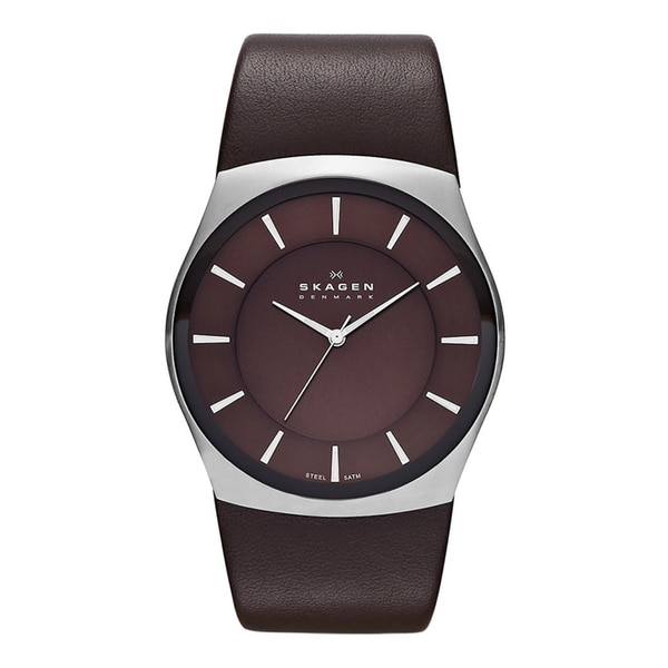 Skagen Classik Mens Brown Leather SKW6016 Watch