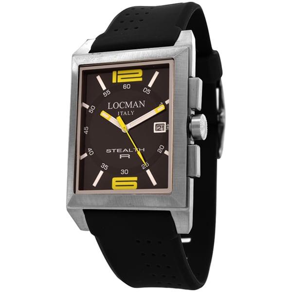Locman Stealth R Black Dial Black Rubber Men's 240BKYL1BK Watch