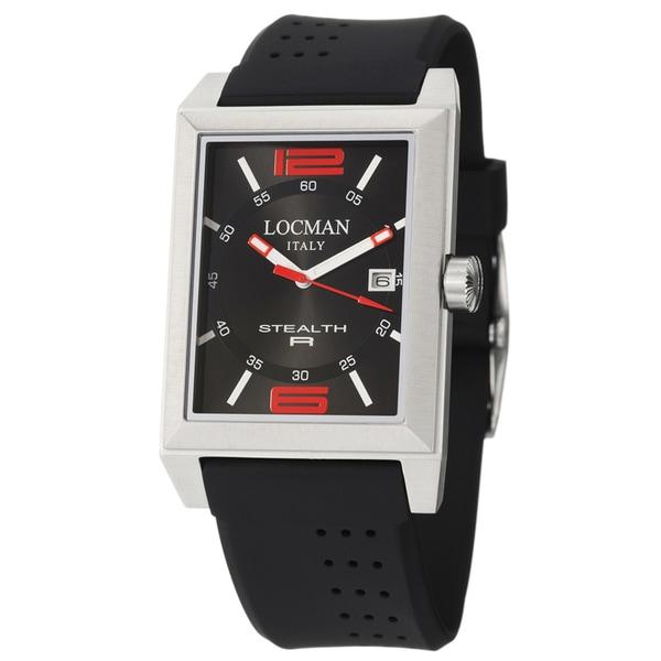Locman Mens Watch Stainless Steel Stealth R Quartz Black 240BKRD1BK Watch