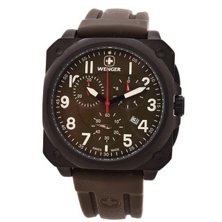 Men's Wenger 77011 AeroGraph Cockpit Chrono PVD - coated Watch
