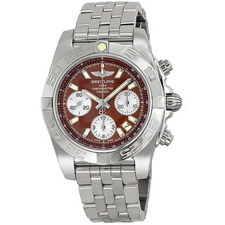 Breitling Men's Analog Display Swiss Automatic Silver AB014012/Q583 Watch
