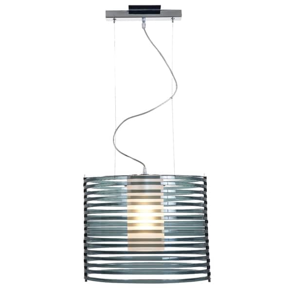 Access Lighting Enzo 16 inch 1-light Chrome Pendant, Smoked