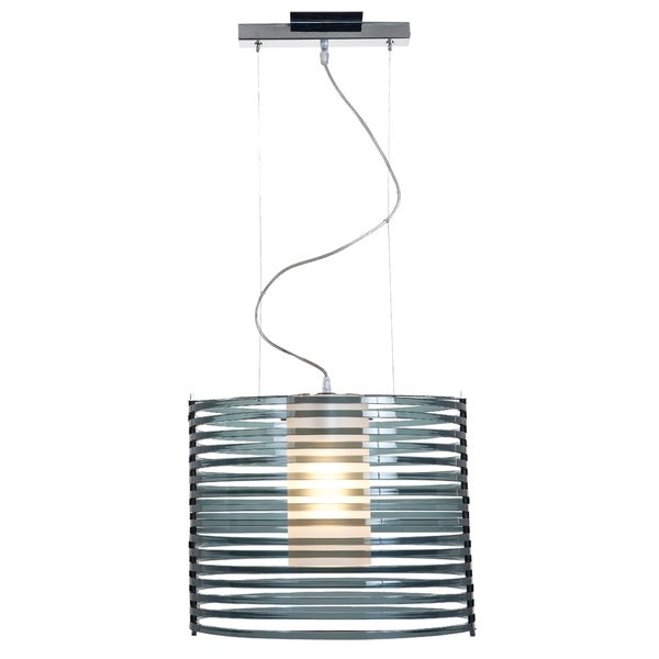 Access Lighting Enzo 16 inch 1-light Chrome Pendant, Smoked 16465546
