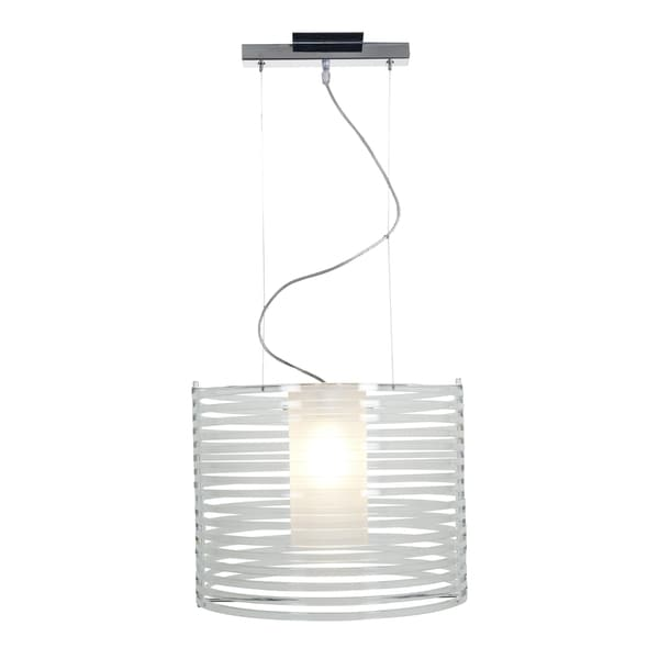 Access Lighting Enzo 16 inch 1-light Chrome Pendant, Clear 16465547