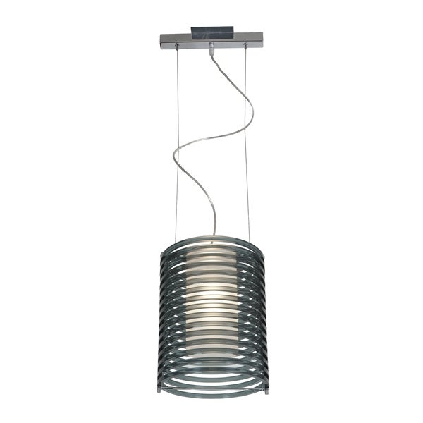 Access Lighting Enzo 10 inch 1-light Chrome Pendant, Smoked 16465548