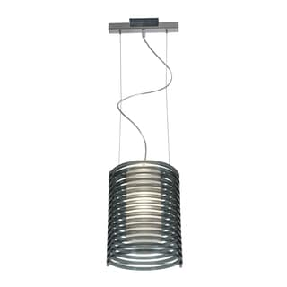Access Lighting Enzo 10 inch 1-light Chrome Pendant, Smoked