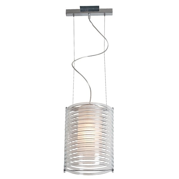Access Lighting Enzo 10 inch 1-light Chrome Pendant, Clear 16465549