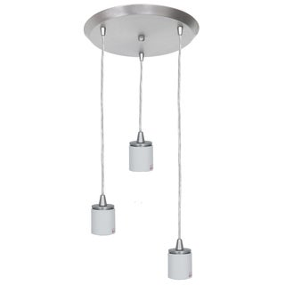 Access Lighting Circ 3-light Steel Round Pendant Assembly