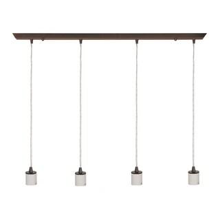 Access Lighting Quadra 4-light Oil-Rubbed Bronze Linear Pendant