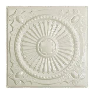 Great Lakes Tin Toronto Antique White 2-foot x 2-foot Nail-Up Ceiling Tile (Carton of 5)