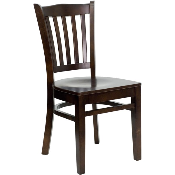Hercules Series Walnut Finished Wooden Chair