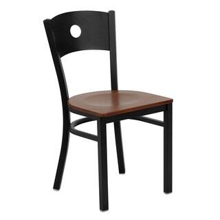 Hercules Series Circle Back Metal Restaurant Chair