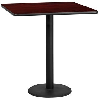 42-inch Square Laminate Table Top with Base