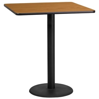 36-inch Square Laminate Table Top with Bar Height Base