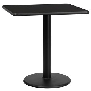 30-inch Square Laminate Table Top with 18-inch Round Table Height Base