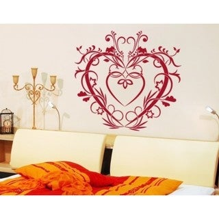 Foral Heart Love Wall Decal