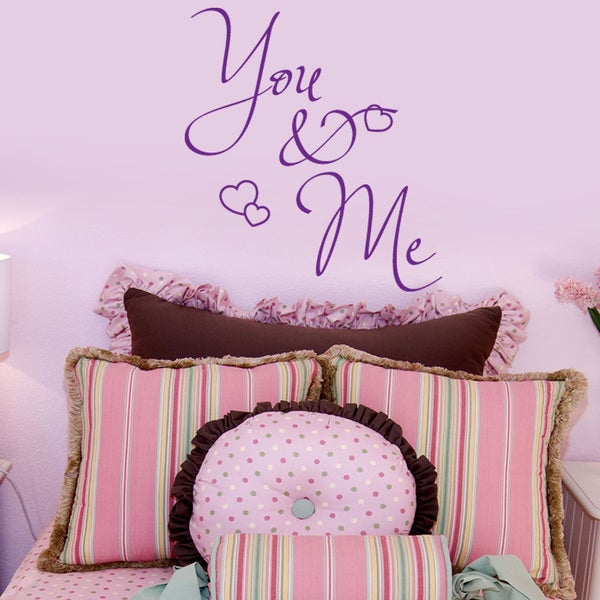 You & Me Love Wall Decal