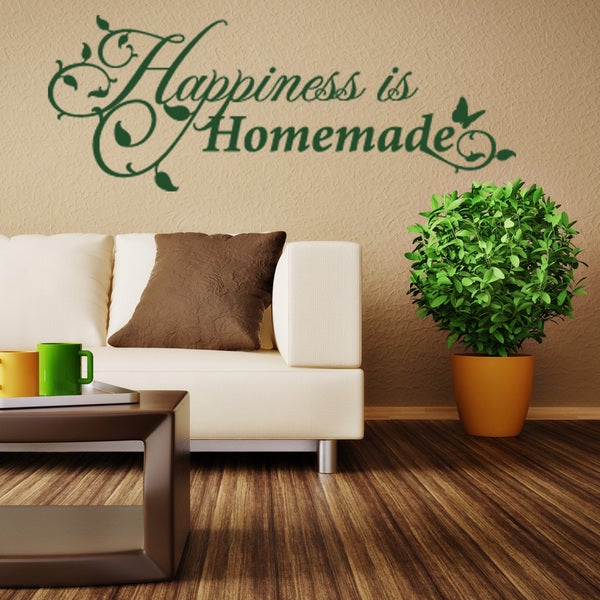 Happiness is Homemade Quote Phrases Wall Decal