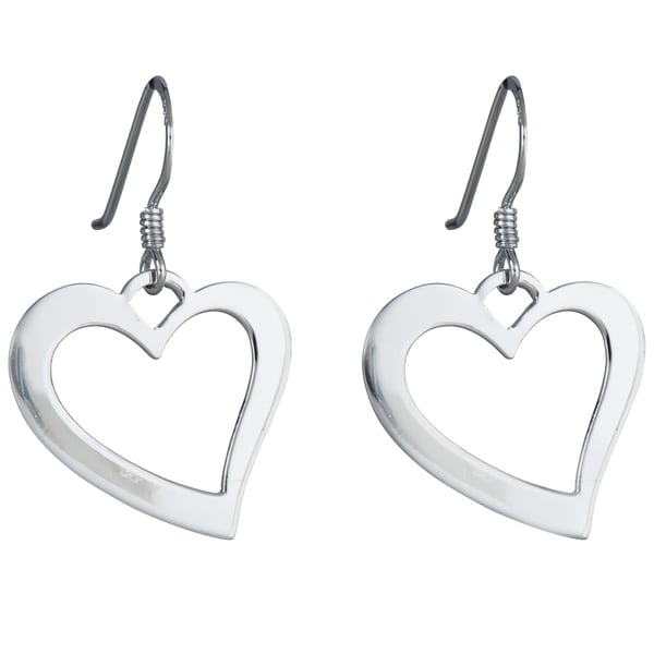 Sterling Silver Fwire Heart Earring