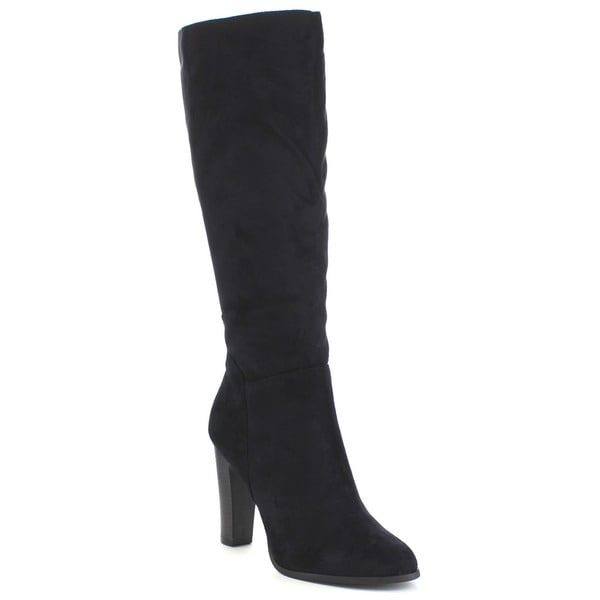 DELICIOUS RIKARD Women's Chunky Heel Knee High Boots