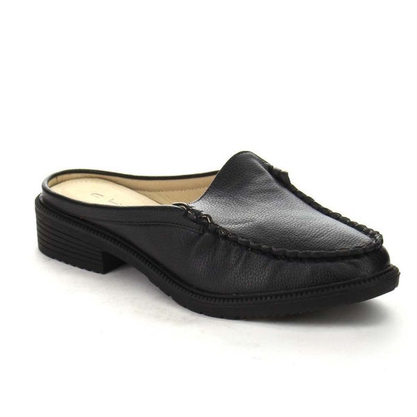Beston AA59 Women's Easy Step In Casual Moccasin Flat Heel Mules