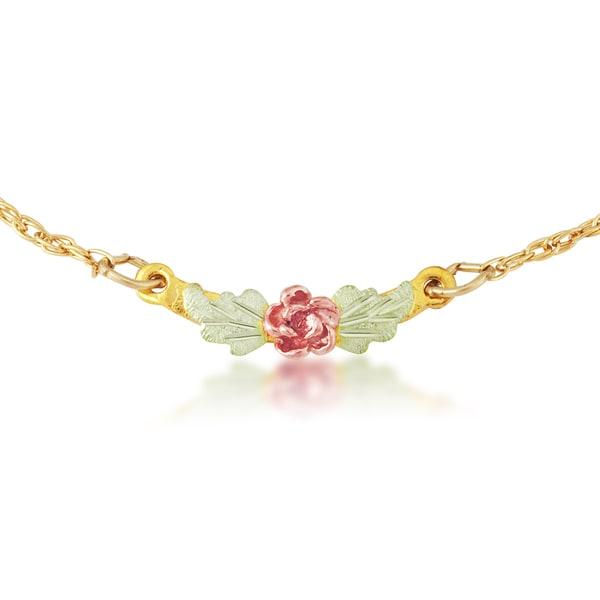 Black Hills Gold Rose Ankle Bracelet