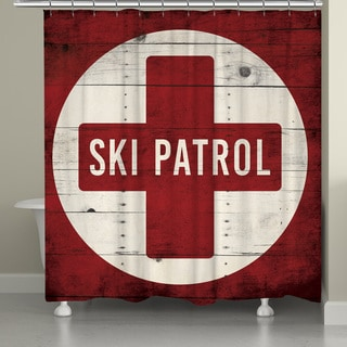 Laural Home Ski Day Shower Curtain (71-inch x 74-inch)