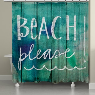 Laural Home Take Me to the Beach Shower Curtain (71-inch x 74-inch)