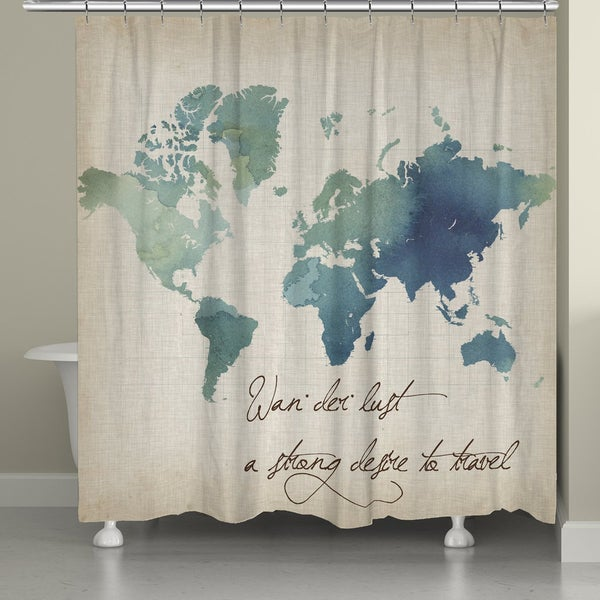 Laural Home Watercolor World Map (71-inch x 74-inch)