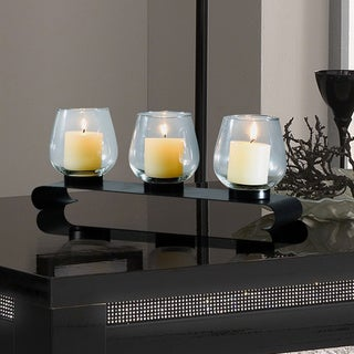 Adeco Decorative Iron Vertical Table Standing Vintage Tab Bubs Style Candle Pillar Holder