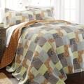 Adara 100-percent Cotton 3-piece Printed Reversible Quilt Set