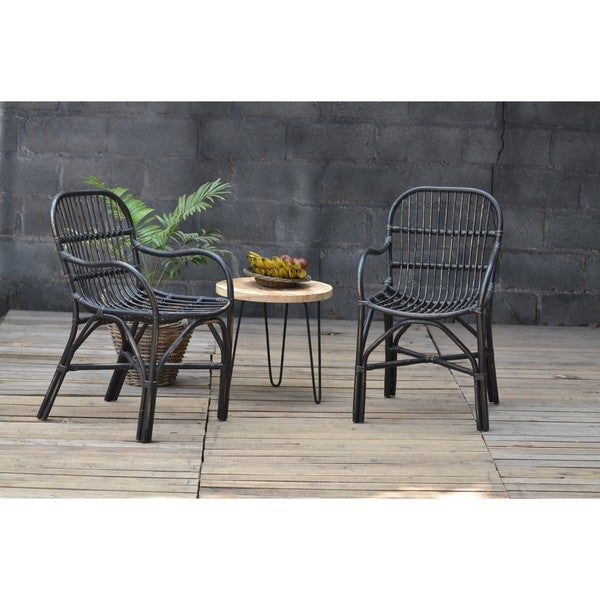 Birdie Rattan Chair Black