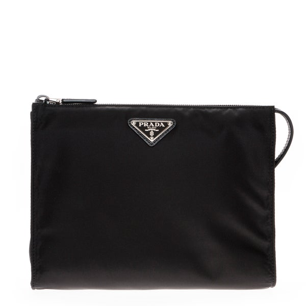 Prada Nylon Black Cosmetic Pouch